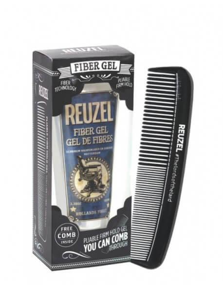 Водоразтворим гел за коса със силно задържане и матов ефект, с ПОДАРЪК гребен - Reuzel Fiber Gel